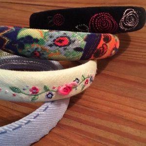 Beautiful Corduroy Hand Sewn Headbands (4) New